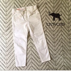 NWT Crewcuts toothpick ankle jean in white, 7